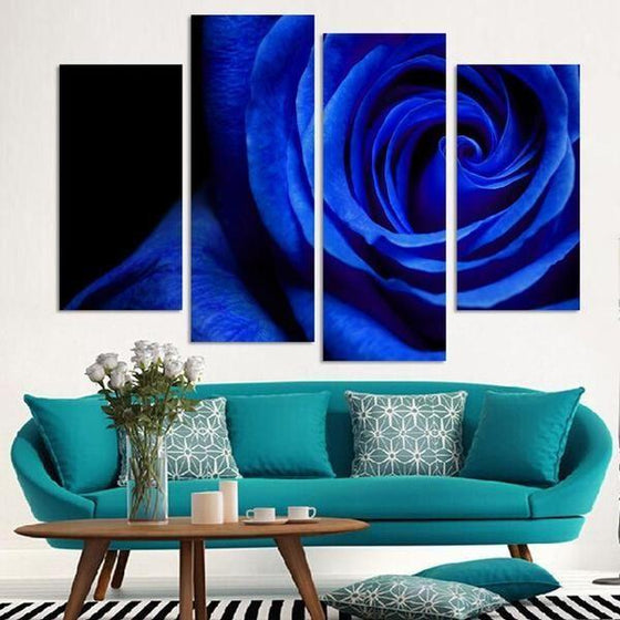 Wall Art Paper Flowers Canvases