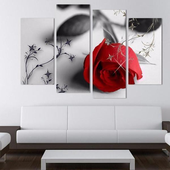 Wall Art Pink Flowers Prints