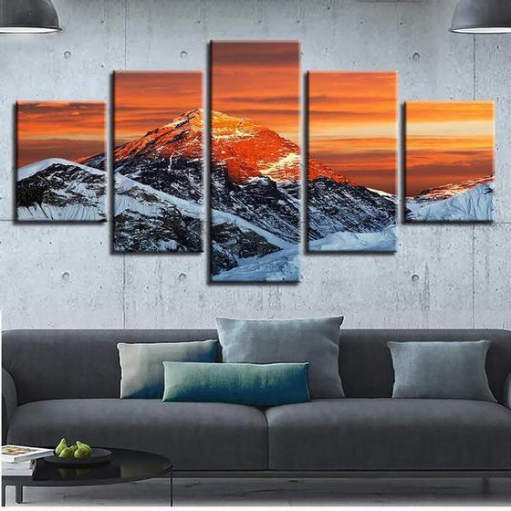 Gimmelwald Sunset Canvas Wall Art Living Room