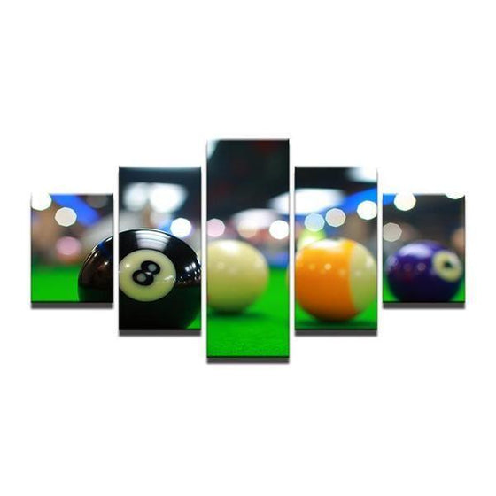 Color Billiards Blur Light Canvas Wall Art Prints