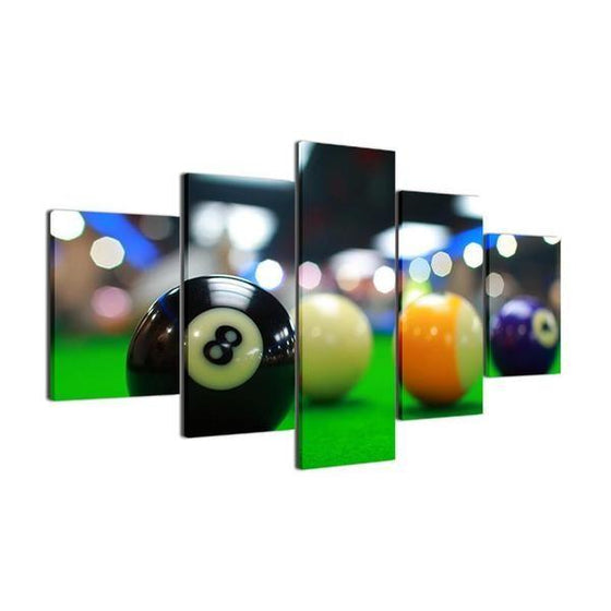Color Billiards Blur Light Canvas Wall Art Ideas