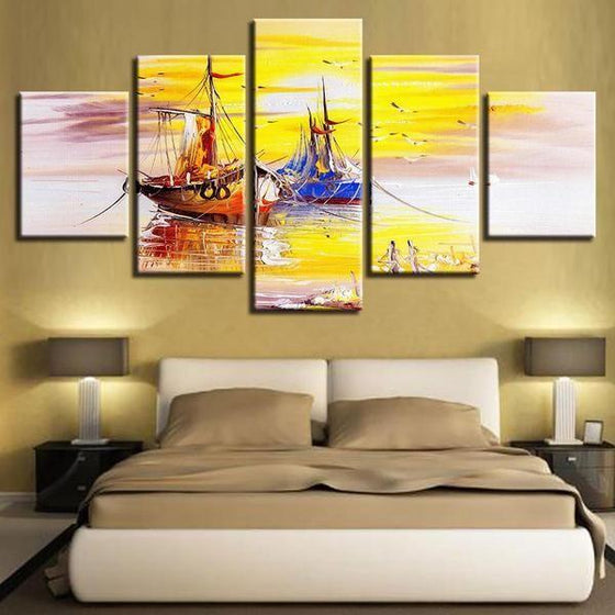 Wall Art Sunrise Sunset Canvases