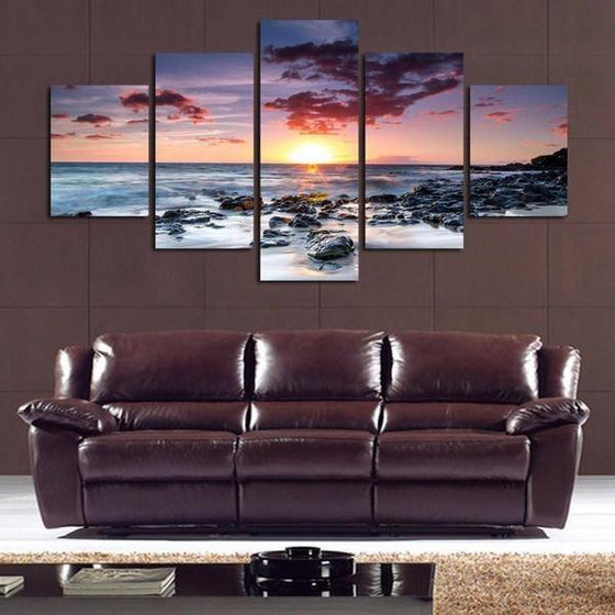 Wall Art Sunset Pink Idea