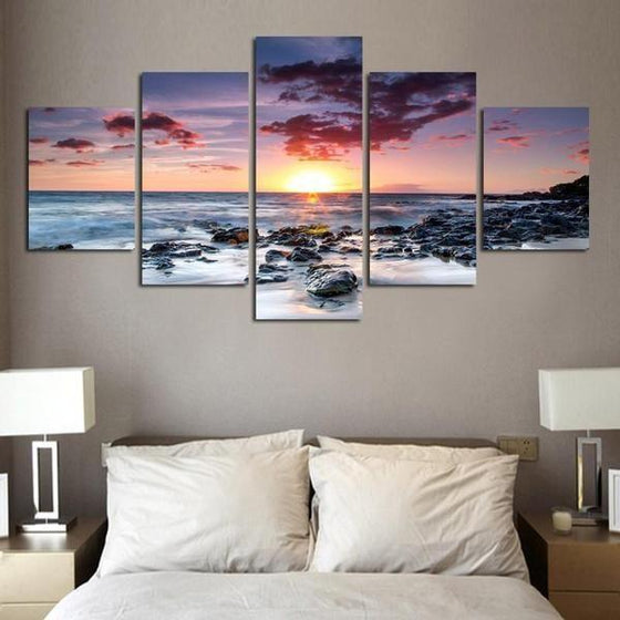 Wall Art Sunset Pink Print