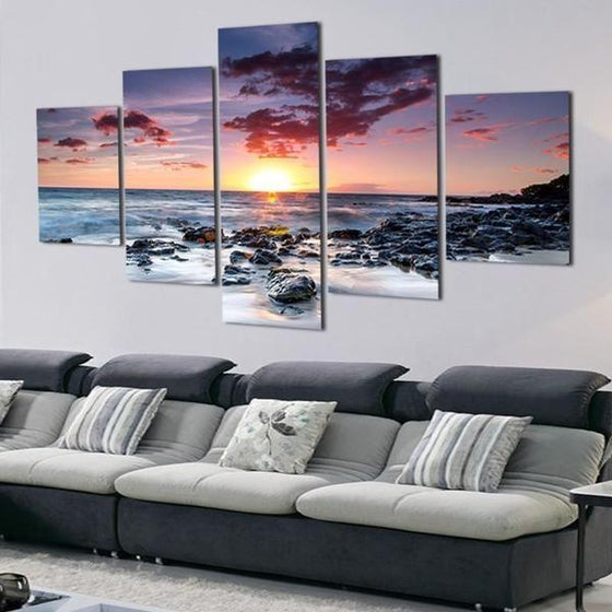 Wall Art Sunset Pink Prints