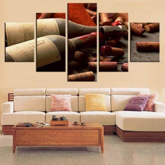 Corks & Wine Bottles Canvas Wall Art Ideas
