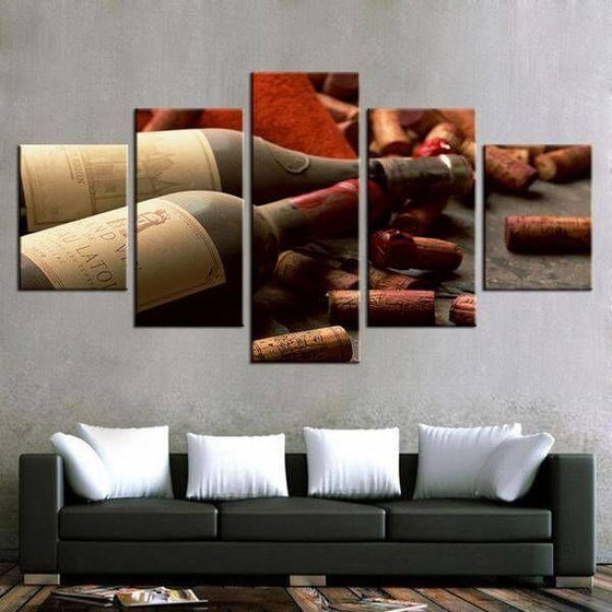 Corks & Wine Bottles Canvas Wall Art