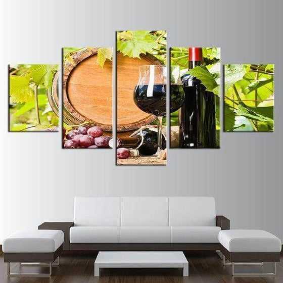 Red Grape Wine Canvas Wall Art Prints