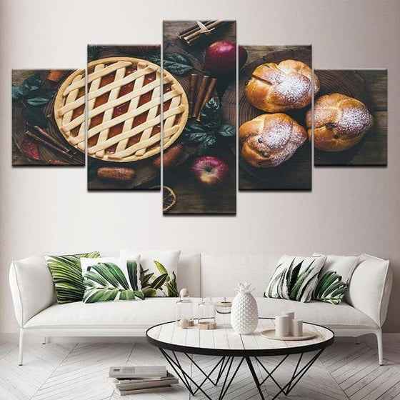 Freshly Baked Apple Pie Canvas Wall Art Living Room