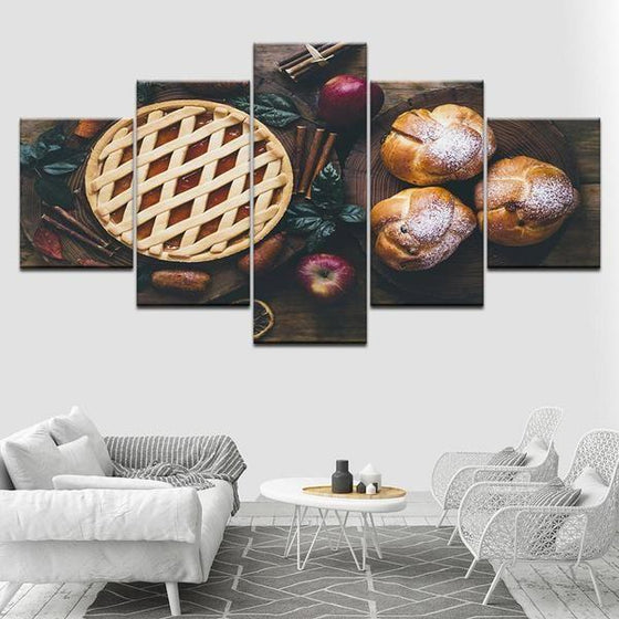 Freshly Baked Apple Pie Canvas Wall Art Decor