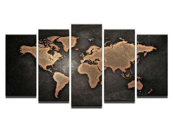 Wall Art World Map Metal Prints