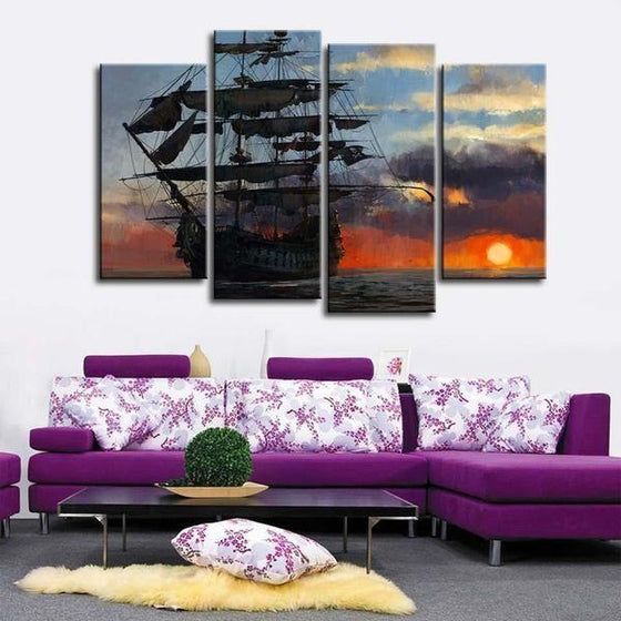 Wall Print Sunset Canvases