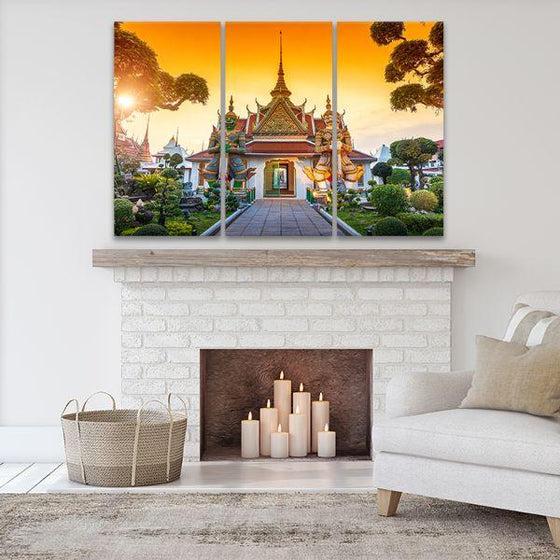 Wat Arun Buddhist Temple 3-Panel Canvas Wall Art Set