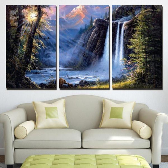 Waterfall Canvas Wall Art Canvases