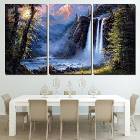 Waterfall Canvas Wall Art Decor