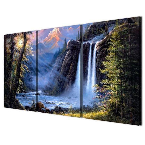 Waterfall Canvas Wall Art Decors