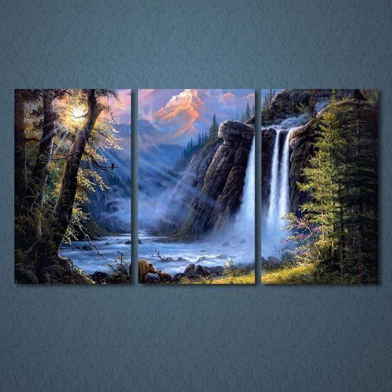 Waterfall Canvas Wall Art Print