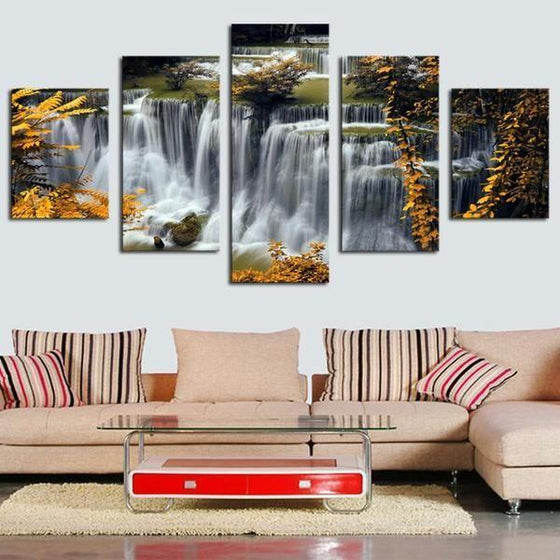 Waterfall Glass Wall Art Canvases