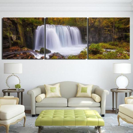 Waterfall Wall Art With Sound Decor