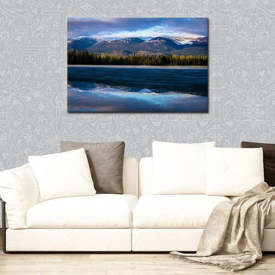 Waves With Mountain Ranges Wall Art Decor
