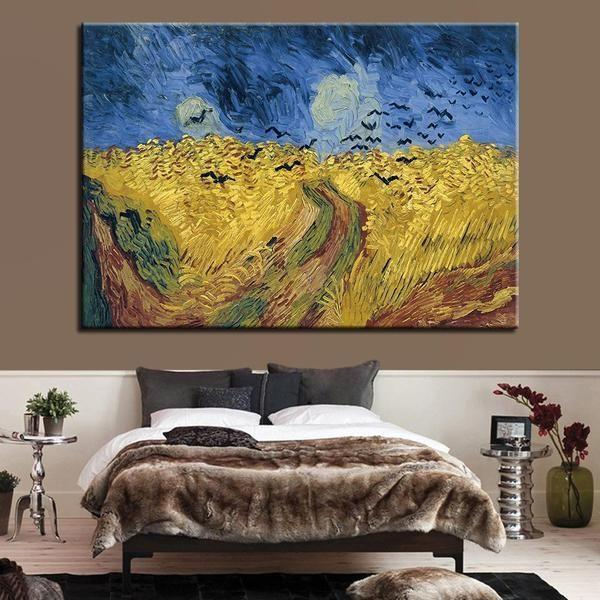 Wheatfield with Crows 1890 by Vincent van Gogh Canvas Print Wall Art ...