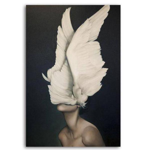 White Angel Wings Canvas Art