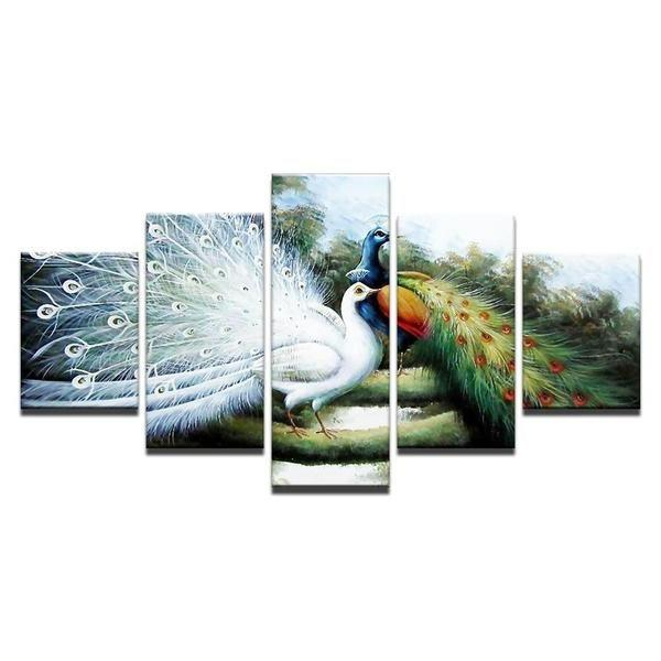 White Peacock Wall Art Print
