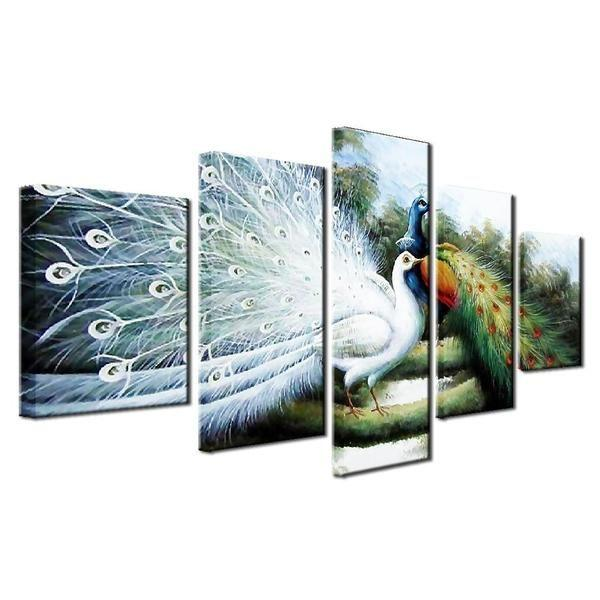 White Peacock Wall Art Prints