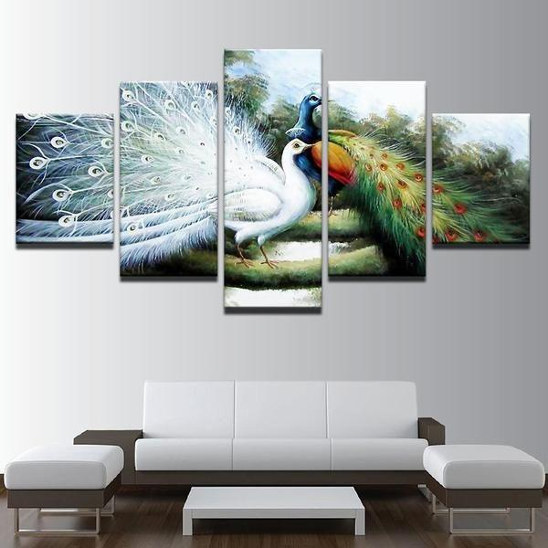 White Peacock Wall Art