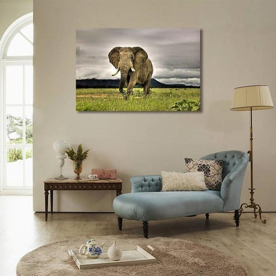 Wild Elephant Canvas Wall Art Living Room