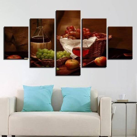 Wine Wall Art Decorating Dining Room Canvas