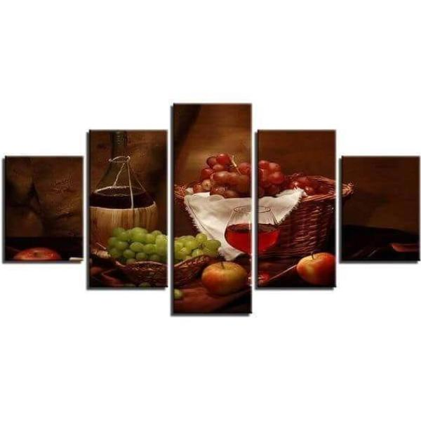 Grapes And Wine Canvas Wall Art | Red Wine-Themed Wall Decor ...
