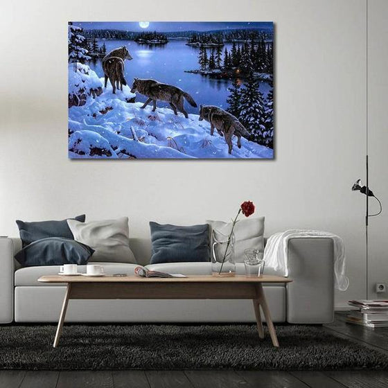 Winter Wolves Canvas Wall Art Decor