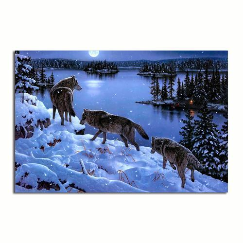 Winter Wolves Canvas Wall Art