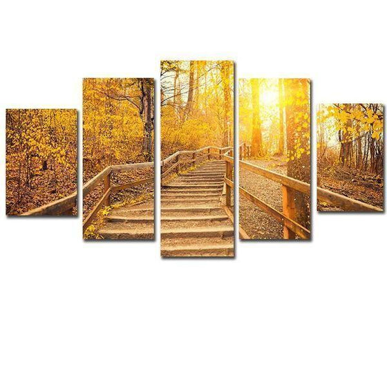 Wooden Path Canvas Wall Art