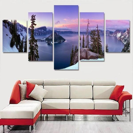 Wooden Wall Art Mountain Decor