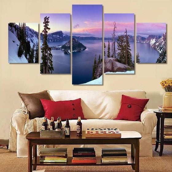 Wooden Wall Art Mountain