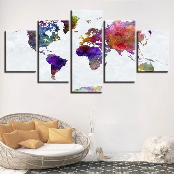 Abstract graffiti world map canvas wall art canvasx world map for wall art idea gumiabroncs Gallery