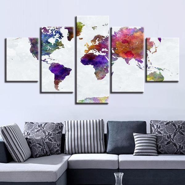 World Map For Wall Art Ideas