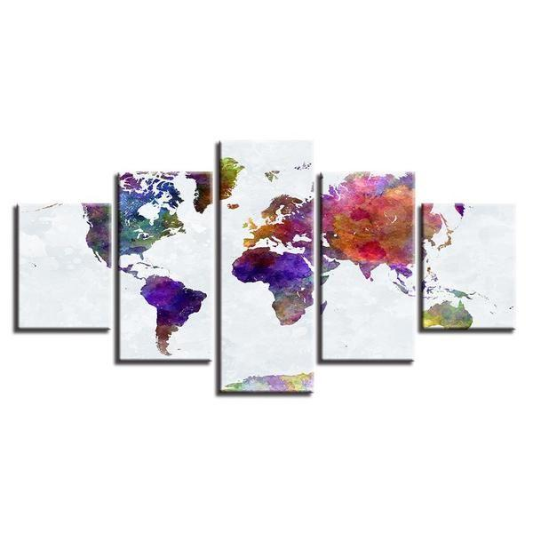 World Map For Wall Art Prints