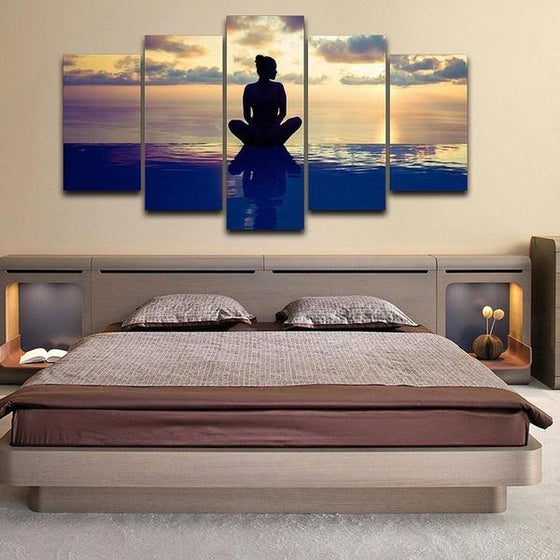 Fitness Yoga Pose Canvas Wall Art Bedroom