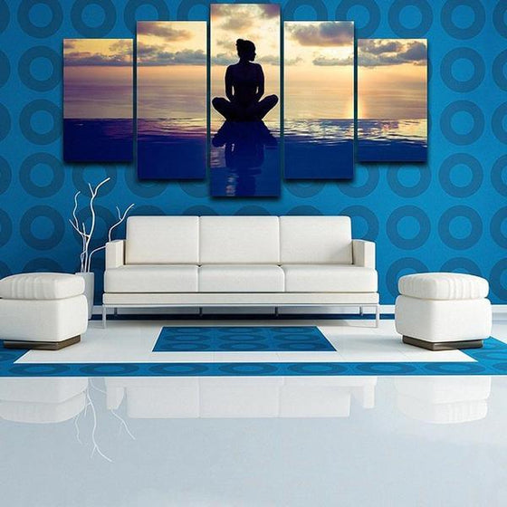 Fitness Yoga Pose Canvas Wall Art Decor