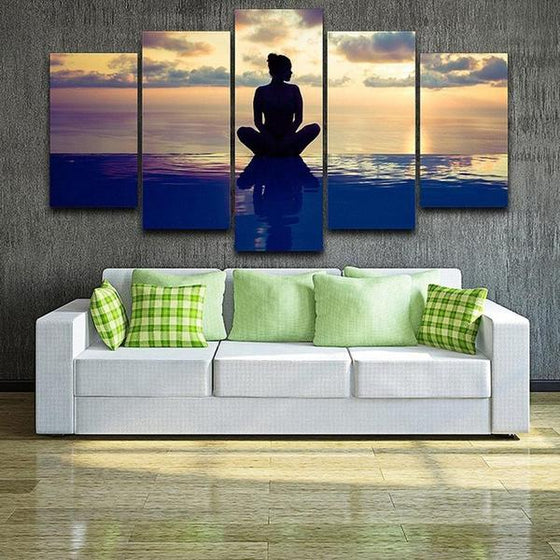 Fitness Yoga Pose Canvas Wall Art Home Decor