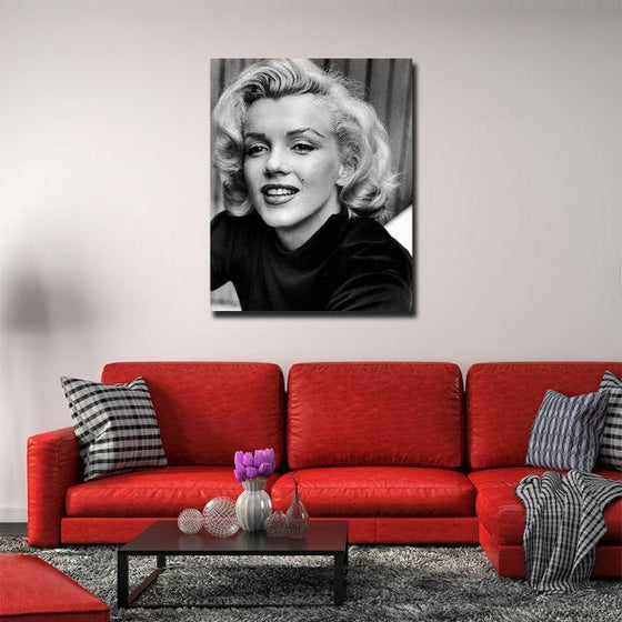 Young Marilyn Monroe Wall Art Living Room
