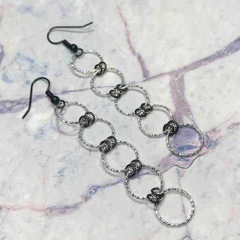 Darcy Long Sparkle Link Earrings | DarcyRose Jewellery