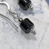 Small Drop Hematite Earrings