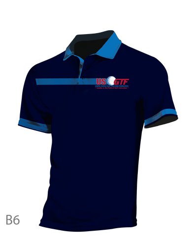 A - GOLF SHIRT - OFFICIAL 2018 USGTF POLO - Designed & custom made for you by Ontal