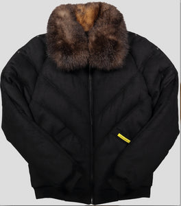 v bomber double goose wool cashmere down jacket with fur collar down bomber puffer down coat winter jacket double goose country bubble goose