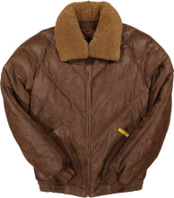 v bomber down leather jacket double goose country goose down leather bomber shearling
