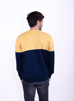 SWEATER BLUE / YELLOW